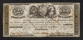 Canadian Currency: , Brockville, ON- United Counties of Leeds and Grenville £25/$100Nov. 22, 1852 Ch. # MU-1. ...