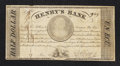 Canadian Currency: , La Prairie, LC/Montreal, LC- Henry's Bank Half Dollar/Un Ecu June27, 1837 Ch. # 357-10-04 . ...