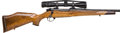 Long Guns:Bolt Action, Cased Custom Weatherby Mark V Bolt Action Sporting Rifle andWeatherby Premier 3X-9X40 Scope....