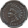 Proof Indian Cents: , 1883 1C PR65 Brown NGC. NGC Census: (154/98). PCGS Population (56/30). Mintage: 6,609. Numismedia Wsl. Price for problem fr...