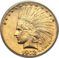 Indian Eagles, 1912-S $10 MS62 PCGS....