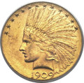 Indian Eagles, 1909-D $10 MS62+ PCGS....