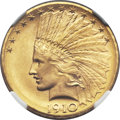 Indian Eagles, 1910-D $10 MS66+ NGC....