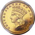 Proof Gold Dollars, 1884 G$1 PR66 Cameo NGC....