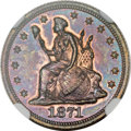 Patterns, 1871 10C Ten Cents, Judd-1085, Pollock-1221, R.7, PR64 Red and Brown NGC....