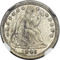 Patterns, 1849 P3CS Three Cent Silver, Judd-111 Original, Pollock-125, HighR.7, PR63 NGC....