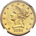 Liberty Eagles, 1842 $10 Large Date AU58 NGC....