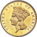 Three Dollar Gold Pieces, 1884 $3 MS62 PCGS....