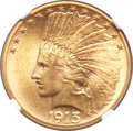 Indian Eagles, 1913 $10 MS65 NGC....