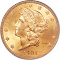 Liberty Double Eagles, 1901 $20 MS65 PCGS....