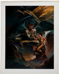Original Comic Art:Paintings, Boris Vallejo The Sphinx II Painting Original Art (1990)....