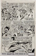 Original Comic Art:Panel Pages, Jack Kirby and Joe Sinnott Fantastic Four #56, Medusa,Maximus, Klaw, and the Invisible Girl Page 6 Original Art (...