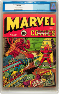 Marvel Mystery Comics #19 (Timely, 1941) CGC FN+ 6.5 Light tan to off-white pages
