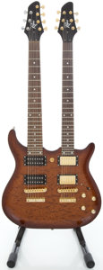 Musical Instruments:Electric Guitars, Rogue Double Neck Mahogany Solid Body Electric Guitar...
