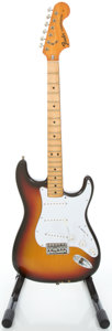 Musical Instruments:Electric Guitars, 1974 Fender Stratocaster Sunburst Solid Body Electric Guitar,Serial #570777....
