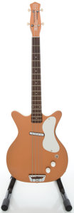 Musical Instruments:Bass Guitars, Circa Late 1950's Danelectro U1 Copper Electric Bass Guitar...