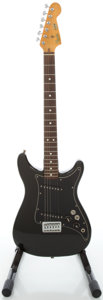 Musical Instruments:Electric Guitars, 1980 Fender Lead II Black Solid Body Electric Guitar, Serial#E014325....