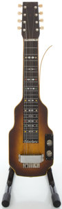 Musical Instruments:Lap Steel Guitars, Circa late 1940's Epiphone Electar 8-String Sunburst Lap SteelGuitar, Serial #9131....