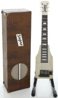 Musical Instruments:Lap Steel Guitars, Circa Early 1940's Supro Silver Lap Steel Guitar Amp-In-Case....