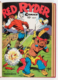 Golden Age (1938-1955):Western, Red Ryder Comics #36-151 Bound Volumes (Dell, 1946-57).... (Total:21 Comic Books)
