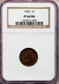 Proof Indian Cents: , 1902 1C PR66 Brown NGC. NGC Census: (4/2). PCGS Population (1/0).Mintage: 2,018. Numismedia Wsl. Price for problem free NG...