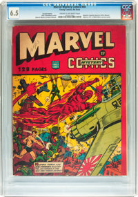 Marvel Mystery Comics 132-Page Issue with Variant Interior (Timely, 1943) CGC FN+ 6.5 Cream to off-white pages