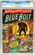 Golden Age (1938-1955):Science Fiction, Blue Bolt #109 (Star Publications, 1951) CGC FN/VF 7.0 Cream tooff-white pages....