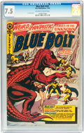 Golden Age (1938-1955):Science Fiction, Blue Bolt #107 (Star Publications, 1950) CGC VF- 7.5 Off-white towhite pages....