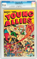 Golden Age (1938-1955):Superhero, Young Allies Comics #16 (Timely, 1945) CGC NM+ 9.6 Off-white to white pages....