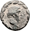 Ancients:Judaea, Ancients: Akko-Ptolemais, Phoenicia. Marc Antony with Cleopatra. AE(23mm, 17.77 g, 12h). ...