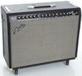 Musical Instruments:Amplifiers, PA, & Effects, Reissue Fender Twin Amp Blackface Guitar Amplifier, Serial #CR-268223....