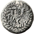 Ancients:Judaea, Ancients: Herod Antipas (4 BC - 39 AD). Mint of Tiberias. AE fulldenomination (26mm, 13.61 gm, 12h)....