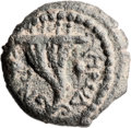 Ancients:Judaea, Ancients: Herod Archelaus (4 BC - 6 AD). AE two prutah (18.5mm, 2.81 gm, 12h)....
