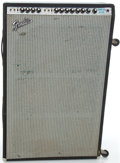 Musical Instruments:Amplifiers, PA, & Effects, 1970's Fender Super Six Reverb Silverface Guitar Amplifier, Serial#A48302....