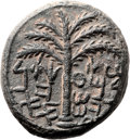 Ancients:Judaea, Ancients: Bar Kokhba Revolt (132 - 135 AD). AE middle bronze (24mm,14.57 gm, 6h). ...