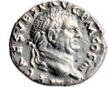 Ancients:Judaea, Ancients: Vespasian (AD 69 - 79). AR denarius (19mm, 3.45 gm, 6h)....