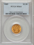 Liberty Quarter Eagles: , 1889 $2 1/2 MS64 PCGS. PCGS Population (43/9). NGC Census: (36/9).Mintage: 17,648. Numismedia Wsl. Price for problem free ...