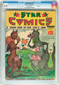 Platinum Age (1897-1937):Miscellaneous, Star Comics V1#2 Billy Wright pedigree (Harry 'A' Chesler, 1937)CGC GD/VG 3.0 Off-white pages....