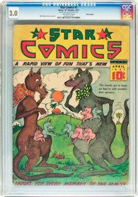 Star Comics V1#2 Billy Wright pedigree (Harry 'A' Chesler, 1937) CGC GD/VG 3.0 Off-white pages