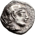Ancients:Judaea, Ancients: Gaza (5-4 centuries BC). AR ma'ah obol (9mm, 0.72 gm,12h). ...