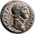 Ancients:Judaea, Ancients: Agrippa II (49/50 - 94/95 AD). Mint of Caesarea Paneas.AE (20mm, 7.16 gm, 12h). ...
