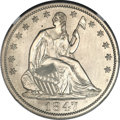 Proof Seated Half Dollars, 1847 50C PR61 NGC....