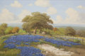 Texas:Early Texas Art - Regionalists, C. P. MONTAGUE (American, 20th Century). BluebonnetHillside. Oil on canvas. 24 x 36 inches (61.0 x 91.4 cm).Signed low...