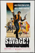 "Movie Posters:Blaxploitation, Savage! (New World, 1973). One Sheet (27"" X 41""). Blaxploitation....."