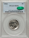 Buffalo Nickels: , 1934 5C MS66 PCGS. CAC. PCGS Population (169/20). NGC Census:(76/6). Mintage: 20,213,004. Numismedia Wsl. Price for proble...