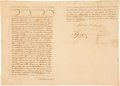 "Autographs:Statesmen, Stephen F. Austin Land Transfer Document Signed ""Estevan F. Austin.""..."