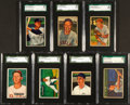 Baseball Cards:Lots, 1950 - 1952 Bowman Baseball Graded Card Collection (7) With HoFers. ...