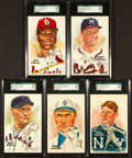 Baseball Cards:Singles (1970-Now), 1980 Perez Steele Baseball Hall of Fame Post Cards Collection (5) - Each a SGC 98 Gem 10 Blazer! ...