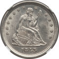 Seated Quarters: , 1843 25C -- Improperly Cleaned -- NGC Details. UNC. NGC Census:(2/45). PCGS Population (0/36). Mintage: 645,600. Numismedi...