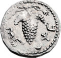 Ancients:Judaea, Ancients: Bar Kokhba Revolt (132 - 135 AD). AR zuz (19mm, 3.32 gm,6h). ...